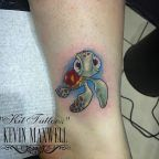 Finding Nemo sea turtle tattoo by Kit Maxwell
