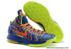 Nike Zoom Kevin Durant s KD V Basketball shoes Royal Blue Green 0570ad4cf