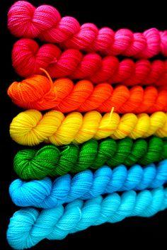 Colorful yarn twists