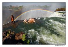 Devil's Pool at Victoria Falls, Africa! Soooo cool, definitely a rush!:)