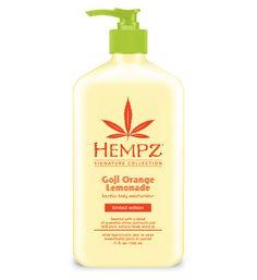 Hempz Limited Edition Signature Collection Moisturizer. Goji Orange Lemonade, Sounds delicious!