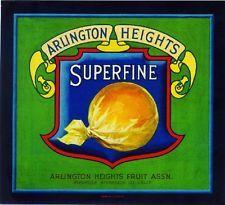 Arlington Heights Superfine #2 Orange Citrus Fruit Crate Label Print