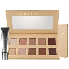 LORAC Unzipped Shimmer and Matte Eyeshadow Palette With Mini Eye Primer, Multicolor Lorac Unzipped Palette, Matte Eyeshadow Palette, Nude Eyeshadow, Makeup Palette, Lorac Palette, Gold Palette, Creamy Eyeshadow, Contour Palette, Eyeshadow Primer