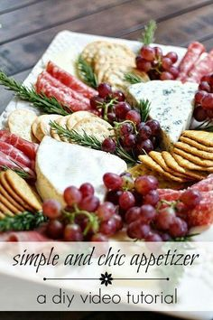 Simple & Chic Meat & Cheese Platter