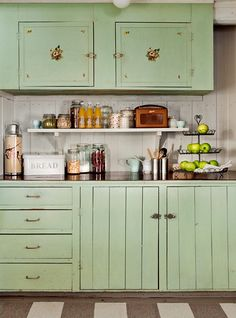 Vintage House: Painted cabinets
