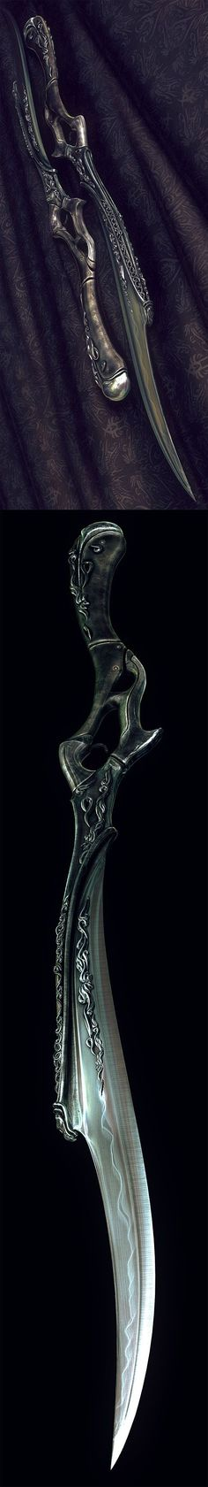 One of Celaena's many daggers. Daggers are her specialty. Katana, Swords And Daggers, Knives And Swords, Medieval Weapons, Poses References, Cool Knives, Arm Armor, Elvish, Tolkien