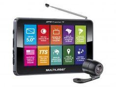 """GPS Automotivo Multilaser Tracker TV Tela 5"""" Touch - TV Digital 2500 Cidades Navegáveis com Câm. de Ré"""