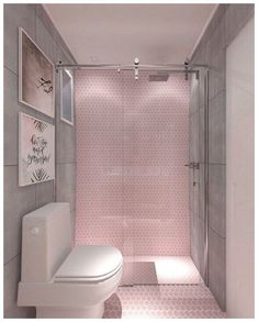 If you are looking for Bathroom Tile Design Ideas, You come to the right place. Below are the Bathroom Tile Design Ideas. This post about Bathroom Tile Design. Bathroom Tile Designs, Bathroom Interior Design, Bathroom Ideas, Chic Bathrooms, Modern Bathroom, Colorful Bathroom, Bathroom Pink, Shower Bathroom, Modern Shower
