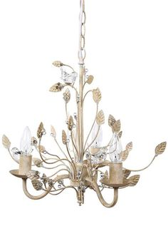 This unique, Romantic Chandelier With Glass Birds is a piece of art and you won't find it at your local hardware store. For more shabby chic bedroom decor visit Antique Farmhouse. Metal Chandelier, Chandelier Ideas, Chandelier Lighting, Antique Farmhouse, French Farmhouse, French Country, Farmhouse Style, Farmhouse Decor, Chandeliers