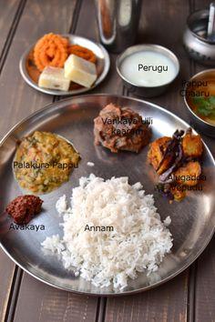 Simple Vegetarian Andhra Thali