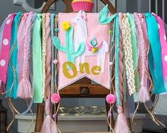 Birthday Banners, Crowns, Photo Props, Party Decor by HouseOfLaylayt First Birthday Themes, 1st Birthday Banners, Baby Girl First Birthday, 1st Birthday Parties, Birthday Ideas, 12th Birthday, Birthday Words, Llama Birthday, Llamas