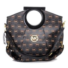 Replica Michael Kors Travel Tote Black Tan Wholesale Low Price by www.wholesalemk.com