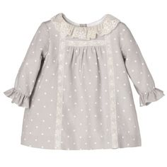 MINI VIELA GRIS CLARO NANOS Girly Girl Outfits, Baby Girl Dresses, Little Dresses, Baby Dress, Cute Dresses, Kids Outfits, Baby Girl Fashion, Toddler Fashion, Kids Fashion