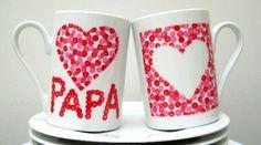 Grâce à mon cadeau, papa pourra boire chaque matin une grande provision d'amour qui l'accompagnera pour toute sa journée !