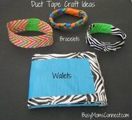 Easy Duct Tape Crafts for kids. #ducttapecrafts Please follow us @ http://www.pinterest.com/ducktapesale/