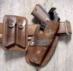 Vintage 1911 Holster, Magazine Pouches, and Belt Cowboy Holsters, Western Holsters, Western Belts, 1911 Holster, Gun Holster, Revolver, Custom Leather Holsters, Kydex, Leather Books
