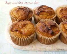 Ginger Sweet Potato Muffins (Paleo) Recipe on Yummly Baby Food Recipes, Paleo Recipes, Muffin Recipes, Sweet Potato Nutrition, Making Ghee, Sweet Potato Muffins, Coconut Flour, Recipe Ginger, Food Print