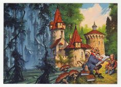 Darrell K. Sweet Cards # 80 The Wizard's Lesson - FPG - 1994