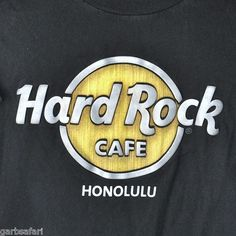 Hard Rock Cafe Honolulu Oahu Hawaii Small T-Shirt 3D Rubber Logo HRC & Roll