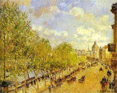 Quai Malaquais in the Afternoon, Sunshine - Camille Pissarro