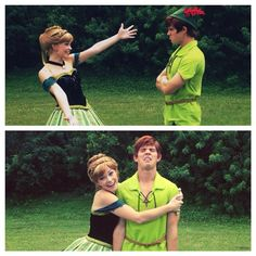 this is adorable because that girl was Wendy but she was asked to be Anna because she was to tall