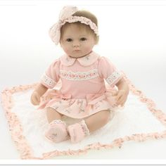 63.98$  Watch now - http://alia9w.worldwells.pw/go.php?t=32733371373 - High Grade15 Inch Silicone Reborn Baby Dolls with Cloth,New Lifelike Baby Reborn Doll Toys for Children Christmas Gift 63.98$