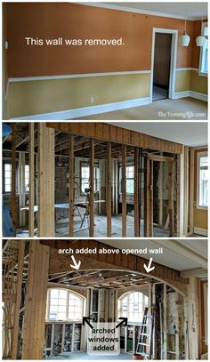 Kitchen Expansion Before And After, Kitchen Remodel Before And After, Minimal Kitchen Design, Minimalist Kitchen, Remodeling Mobile Homes, Home Remodeling, Ohio House, Camden House, Ranch Remodel