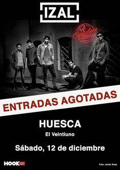 Hoy @IZALmusic en #concierto en #Huesca #VisteMusica  http://www.latiendadelosartistas.com/es/73-fabricantes-del-merchandising-oficial-de-izal