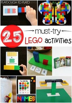 25 Must Try LEGO Activities for Kids. Free printables, math games... tons of fun LEGO ideas!