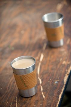 Ditch the paper coffee cup, use a pint in the morning too!