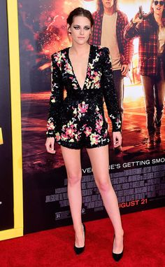Kristen Stewart from The Best of the Red Carpet  The actress slips into a sparkling beaded Zuhair Murad jumper.