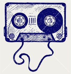 Illustration about Audio cassette tape. Illustration of graphic, graffiti, image - 29413244 Cassette Tattoo, Cassette Tape Art, Music Doodle, Doodle Art, Boombox, Casette Tapes, Music Tattoos, Vector Art, Doodles