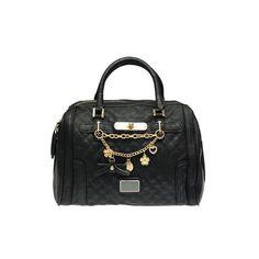 Raffinierte Handtasche mit süßer Glücksbringerkette (in 2 kombinierbaren Farben) #back #handbag #goodluckcharm #fashion #jepo
