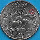 2006 P -NEVADA - STATE QUARTER ERROR COIN - REV DIE CHIP - OBV DIE CRACK- UNCIRC