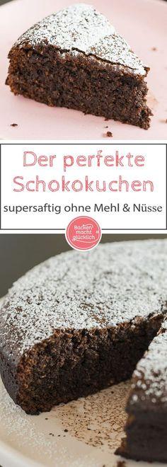 Chocolate cake without flour - Kuchen Rezepte - Dessert Cake Cookies, Cupcake Cakes, Keto Postres, Baking Recipes, Dessert Recipes, Perfect Chocolate Cake, Cake Chocolate, Delicious Desserts, Yummy Food