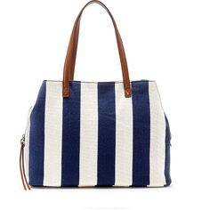 Sole Society Millie Printed Oversized Tote ($65) ❤ liked on Polyvore featuring bags, handbags, tote bags, navy cream, handbags totes, striped tote bag, woven tote, navy stripe tote and woven tote bags