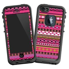 "Pink Geometric Tribal ""Protective Decal Skin"" for Lifeproof iPhone 5 Case:Amazon:Cell Phones & Accessories"
