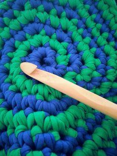 T-shirt yarn crochet storage basket