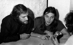 Barbet Schroeder and David Gilmour around the release of the film La Vallée and the album Obscured By Clouds - 1972