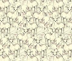 Woodland (white background) fabric by lydia_meiying on Spoonflower - custom fabric