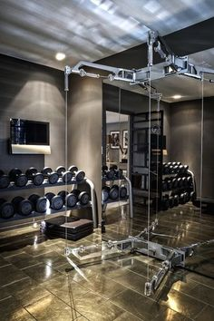Best ideas home gym storage ideas apartment therapy - homecoming dresses/ . - Home Gym Style - Home Gym Design, House Design, Attic Design, Piscina Spa, Gym Room At Home, Gym Interior, Basement Gym, Attic Rooms, Attic House