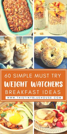 Add these easy, simple and delicious Weight Watchers breakfast recipes to your meal plan this week. Weight Watchers Lunches, Weight Watchers Breakfast, Weight Watcher Dinners, Weight Watchers Chicken, Delicious Breakfast Recipes, Easy Healthy Breakfast, Dinner Recipes, Health Dinner, Cooking Recipes