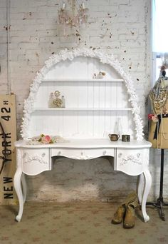 Painted Cottage Shabby Romantic Vanity/ Desk