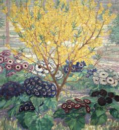 Primavera    -    Giovanni Guerrini   1921  Italian  1887-1972  Oil on canvas ,110 x 100 cm