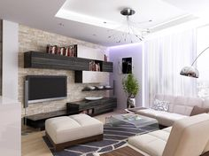 Návrhy interiérů Flat Screen, Couch, Furniture, Home Decor, Living Rooms, Tv, Blood Plasma, Lounges, Settee