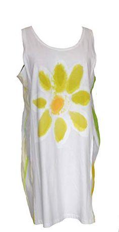 Original T-shirts FLOR5 Talla XL 90/50 cm, Vestido de algodón orgánico Pintado a Mano. Original T-shirts