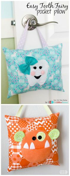 The post Easy Tooth Fairy Pocket Pillow free tutorial! 2019 appeared first on Pillow Diy. Sewing Projects For Kids, Sewing For Kids, Baby Sewing, Sewing Crafts, Sewing Ideas, Tooth Pillow, Tooth Fairy Pillow, Sewing Pillows, Diy Pillows