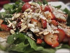 Strawberry Spinach Salad with Homemade Poppyseed Dressing