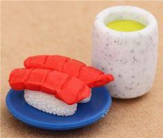 Tuna Sushi Nigiri green Tea macha eraser from Japan by Iwako
