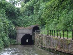 Shrewley Tunnel with it's separate tunnel for the towpath